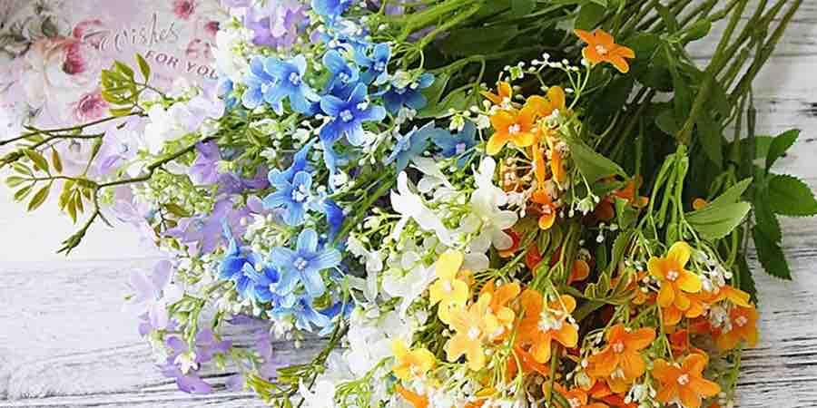 Flores artificiales . Flores artificiales grandes.