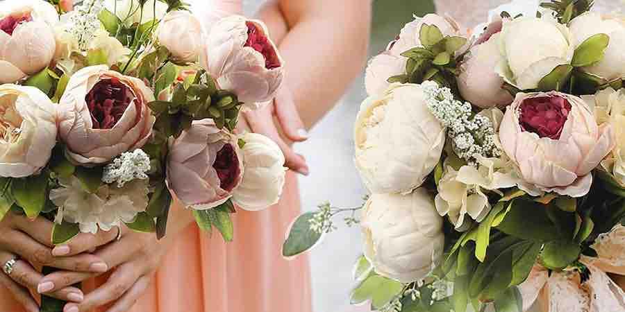 Flores artificiales. ramos de novia