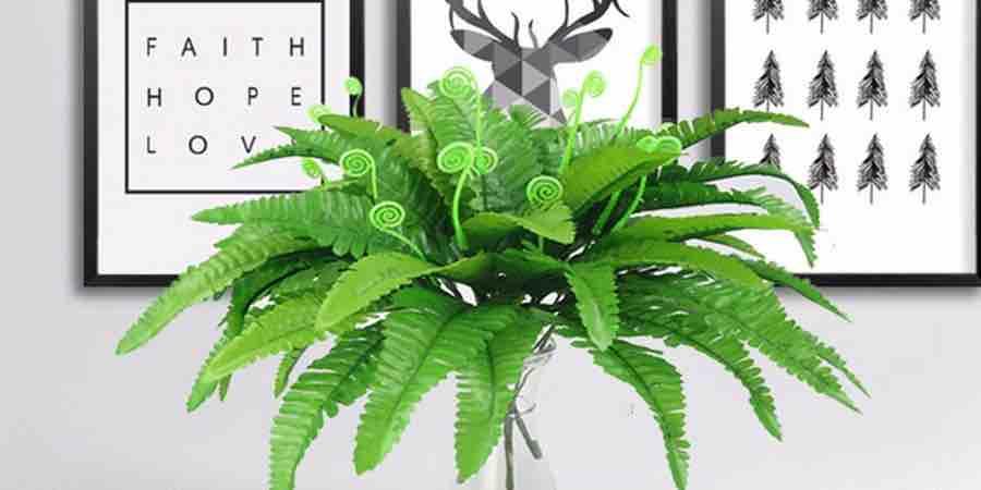 Helechos artificiales. flores artificiales baratas