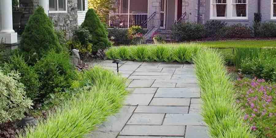 Borduras de plantas artificiales de exterior