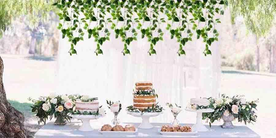 Hiedra artificial para banquetes y bodas