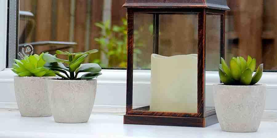 Plantas artificiales pequeñas decorativas