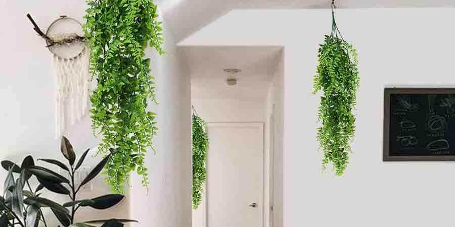 plantas artificiales colgantes para interiores