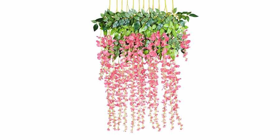 amazon plantas artificiales de exterior, plantas artificiales colgantes amazon
