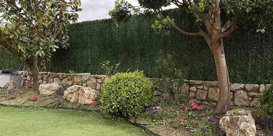 setos artificiales para jardin
